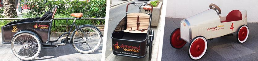 Bicicleta de carga alquiler en Valencia